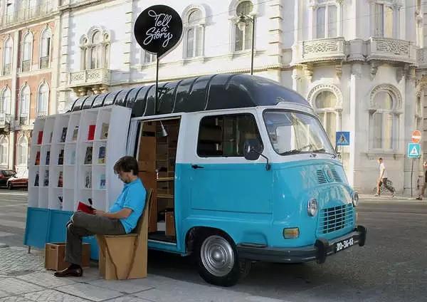Tell a Story - книжный-магазин-фургон в Португалии