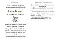Blackmore, Richard Doddridge: Lorna Doone (A Romance of Exmoor). Animedia Company, 2014