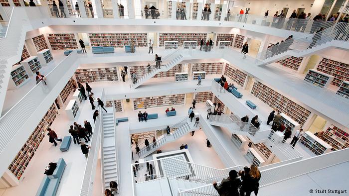 Лучшая библиотека Германии, г. Штутгарт