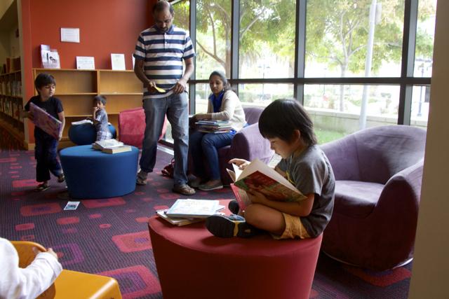 В американских библиотеках Помещения устланы мягким ковролином