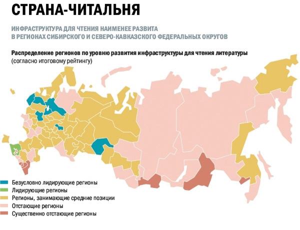Роспечать подготовила литературную карту России