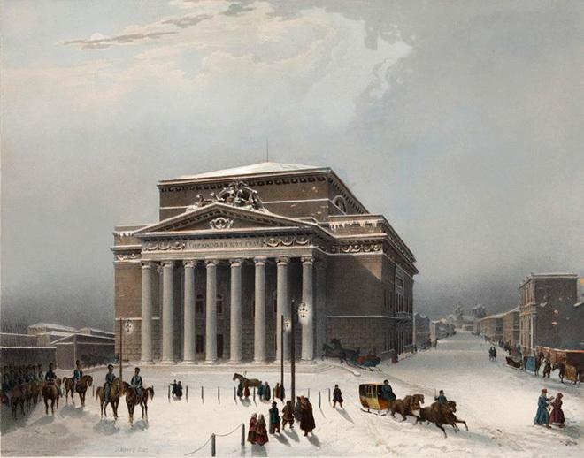 Вид Большого театра в Москве