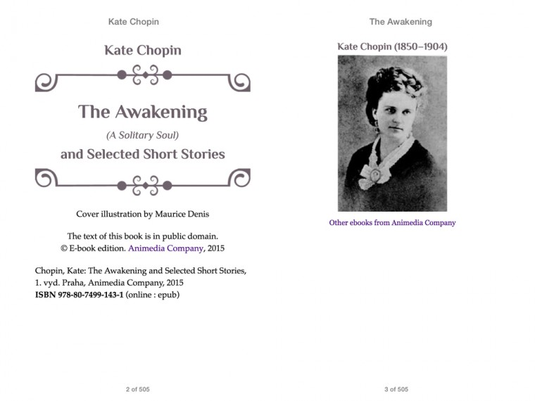 """kate chopin the awakening outline """"the awakening"""" is a short novel by kate chopin it relates the story of a young new orleans' woman, edna pontellier edna has a kind."""