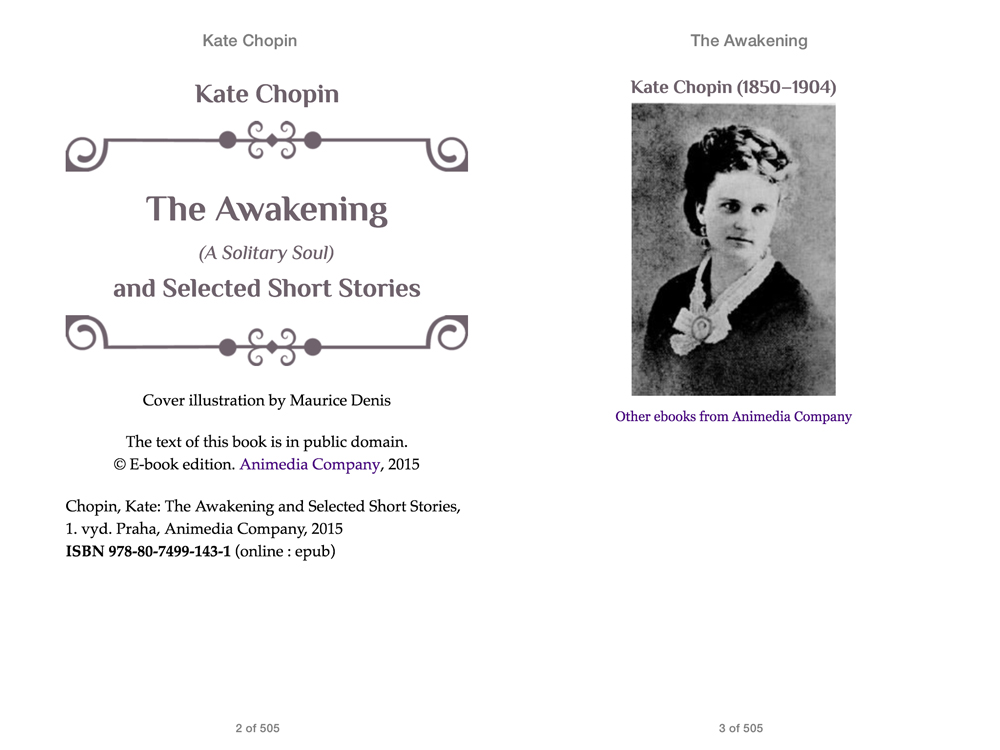 a short biography of kate chopin and an analysis of her novel the awakening Departing from literary convention, kate chopin failed to condemn her heroine's desire for an affair with the son of a louisiana resort owner, whom the awakening shocked turn-of-the-century readers with its forthright treatment of sex and suicide departing from literary convention, kate chopin failed.