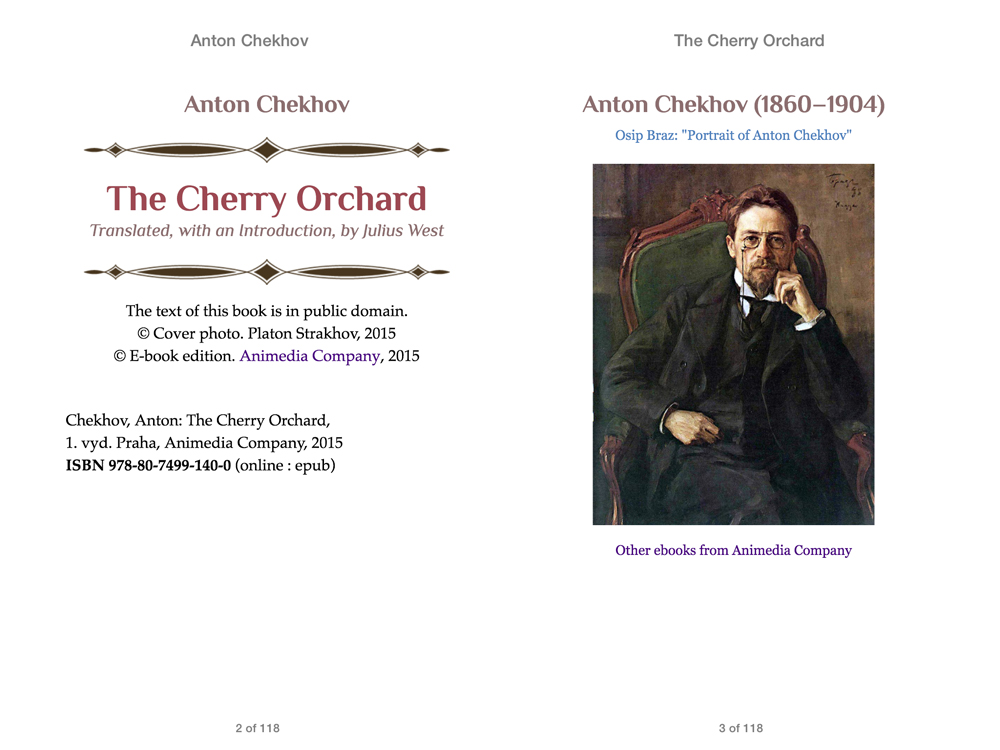 a literary analysis of the cherry orchad by anton chekhov Literary analysis involves examining all the parts of a novel, play, short story, or poem—elements such as character, setting, tone, and imagery—and thinking about how the author uses those elements to create certain effects.