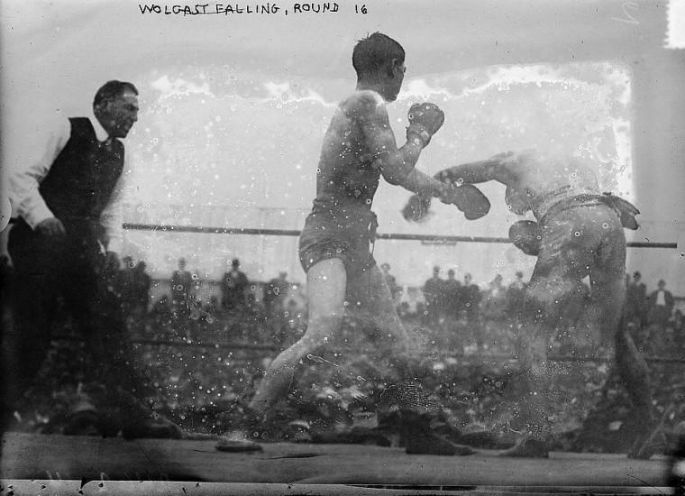 Боксерский поединок. Сан-Франциско, 1910-е годы