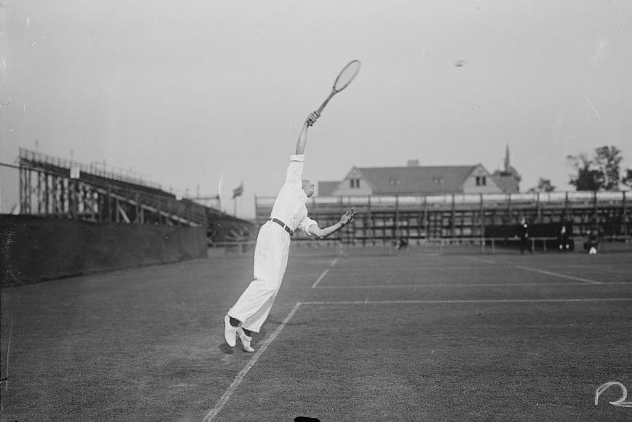 Теннисный матч. Форест-Хиллc, Нью-Йорк, около 1916 года